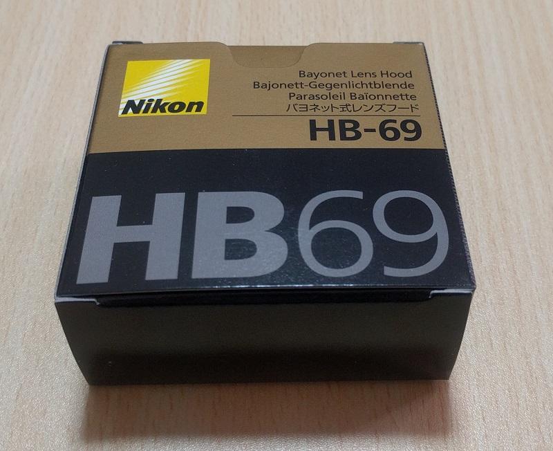 レンズフード(HB69)の箱
