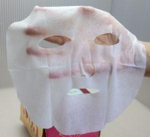 ルルルンのプレシャス レッドのマスクを完全に広げてみた