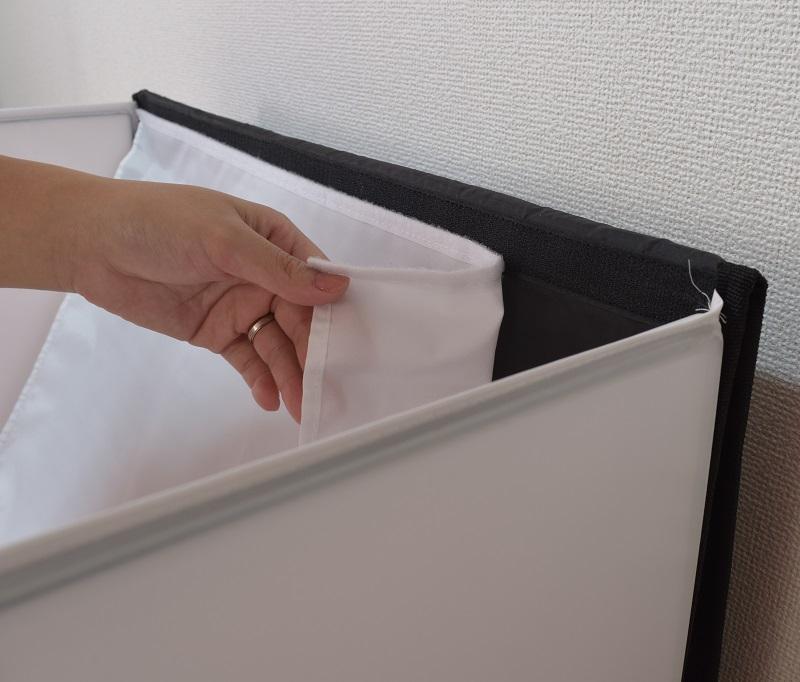 LS deco撮影ボックス60に背景布を付ける