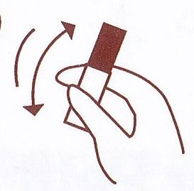 ABふたえカラープチフィルム(ブラウン)の使い方1