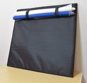 LS deco撮影ボックス60の裏面に背景布を丸めて収納できる
