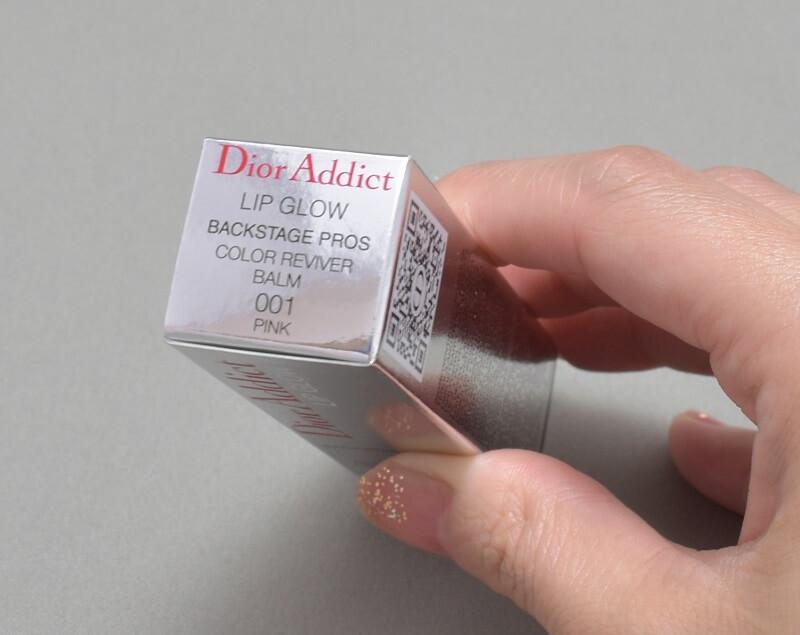 ディオールアディクトリップグロウ001のパッケージ上側