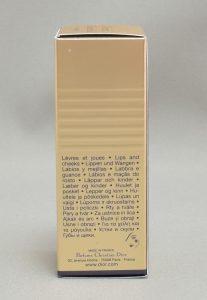 ディオールディオリフィックマットフルイド003の箱側面