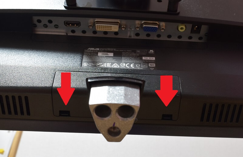 ASUSのVC239Hの台座を外したらカバーを外す