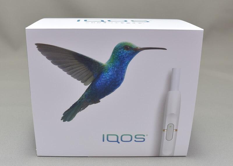 アイコスの限定色サファイアブルーの外箱の鳥