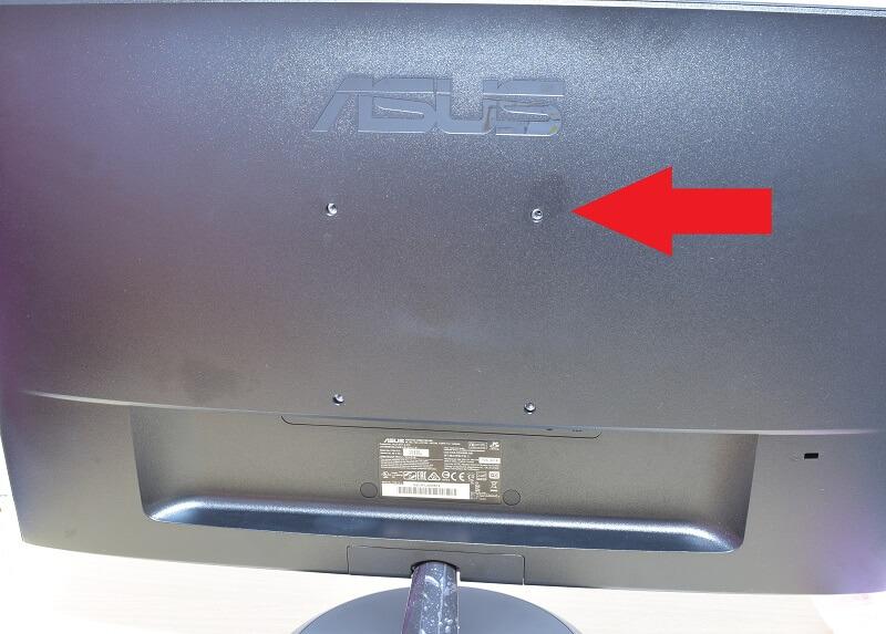 VC239Hの背面にはネジ穴があった