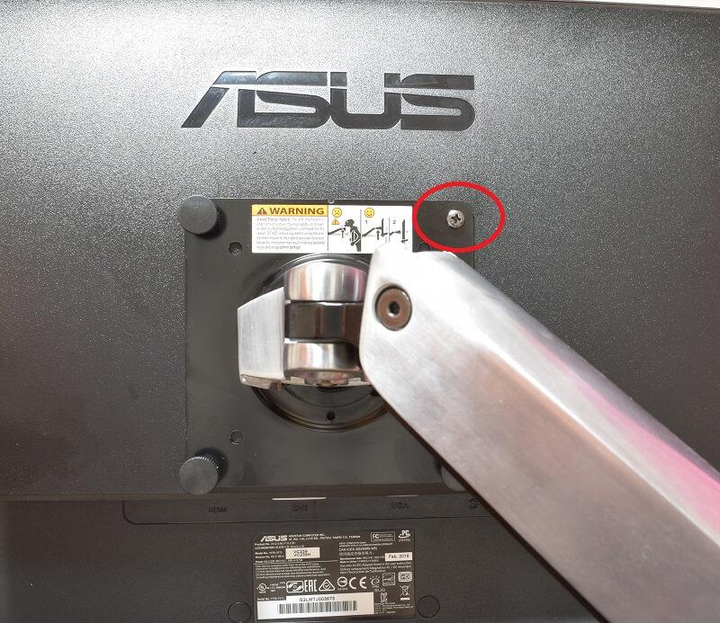 エルゴトロン LX デスクマウント モニターアームとVC239Hを合体させてからネジを交換した