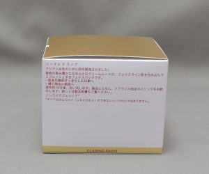 クラランストータルVラップの外箱側面