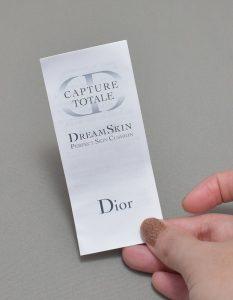 ディオールカプチュールトータルドリームスキンクッションの説明書