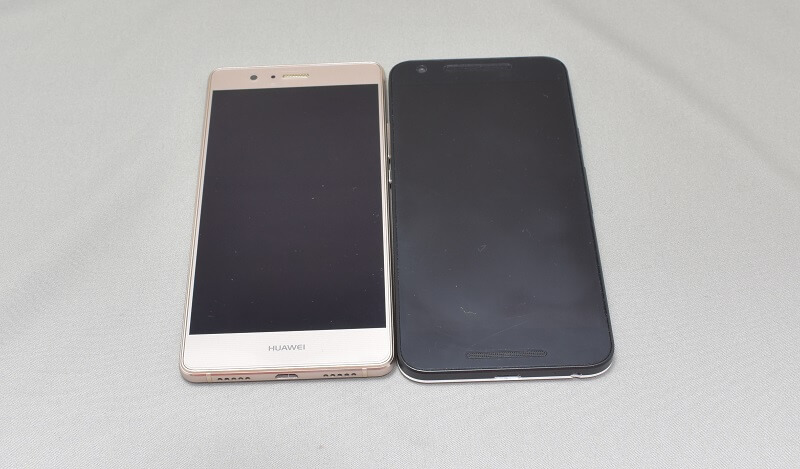 Huawei P9 LITEとNEXUS5Xを並べてみた