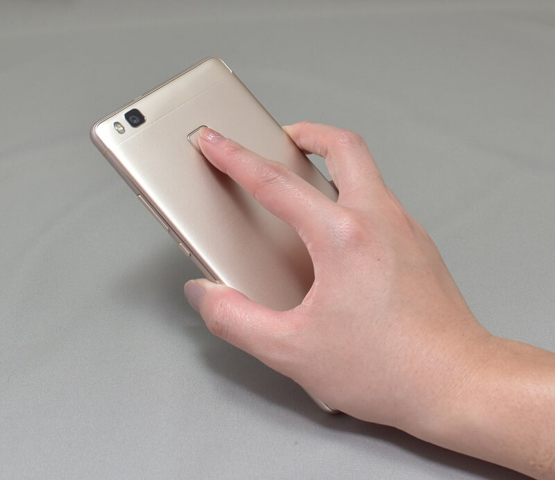 Huawei P9 LITEの指紋認証をしてみる
