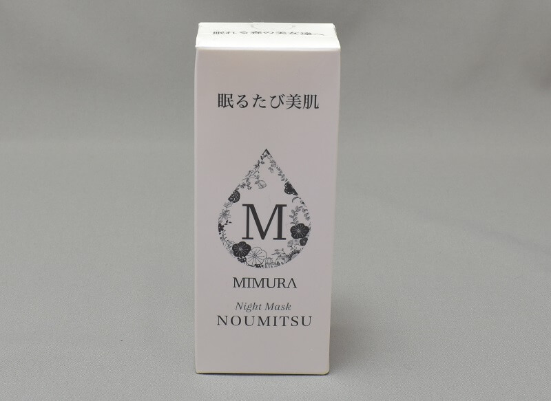 ミムラナイトマスクNOUMITSUの外箱