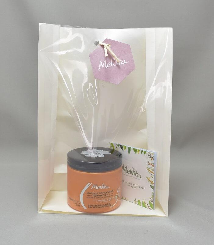 メルヴィータオイルコンセントレイトマスクのプレゼント包装