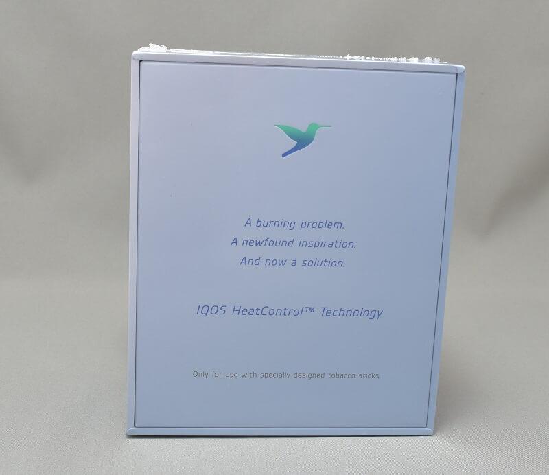 新型アイコス「iQOS 2.4 Plus」の外箱裏面