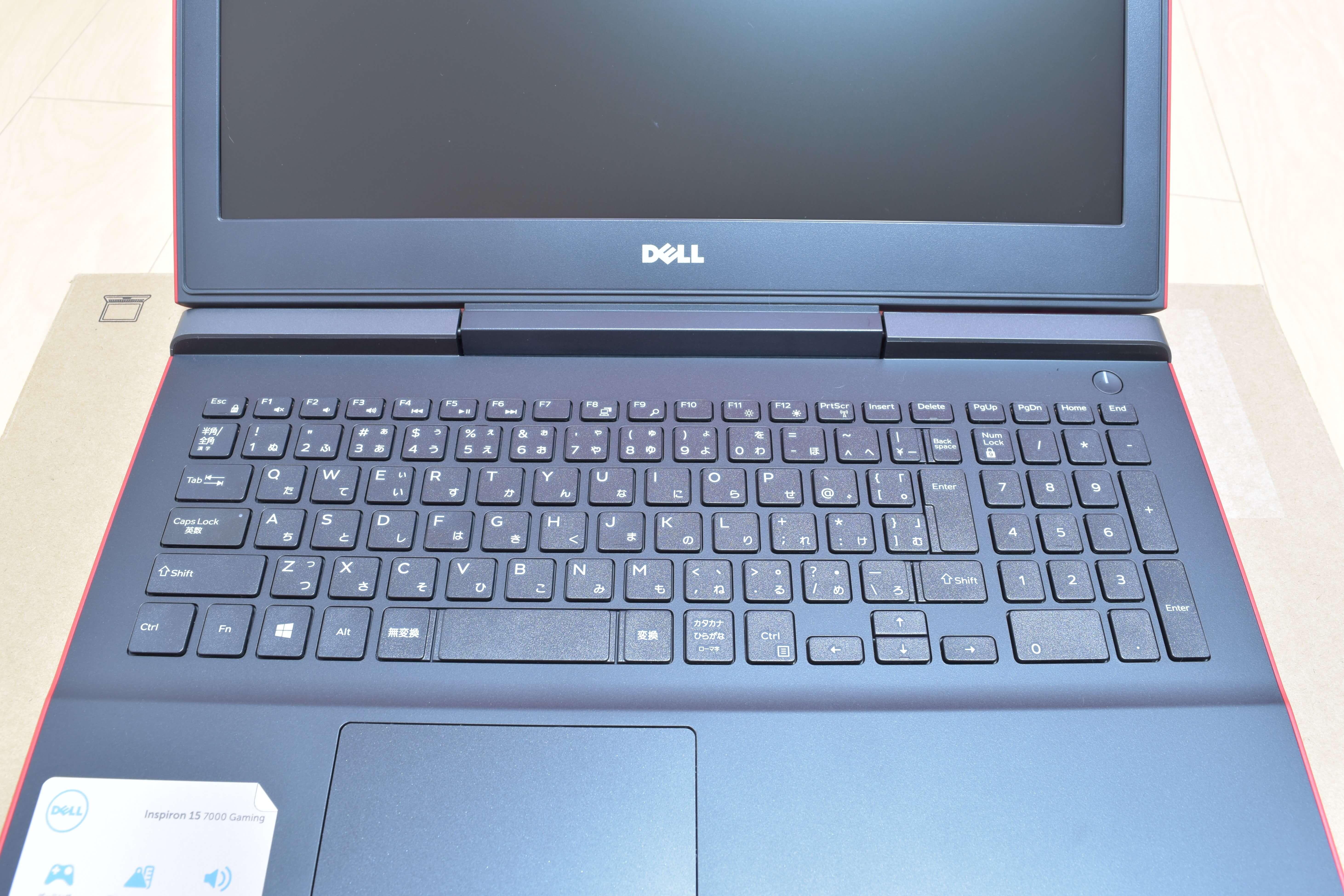 Dell / Inspiron 15 7000 (7567) Gaming プラチナのキーボード