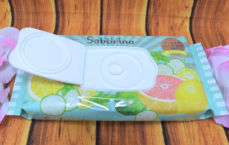 サボリーノ / 目ざまシート (ミンティーグレープフルーツの香り)のフタを開けてみた