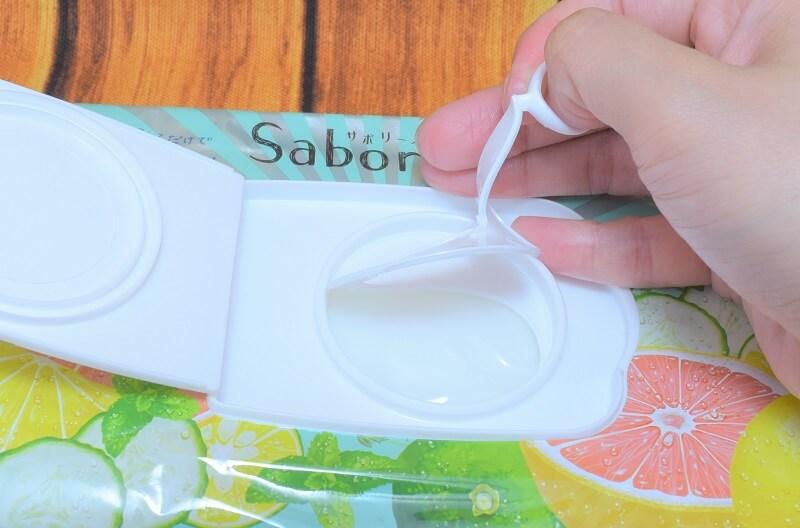 サボリーノ / 目ざまシート (ミンティーグレープフルーツの香り)のふたの開け方3