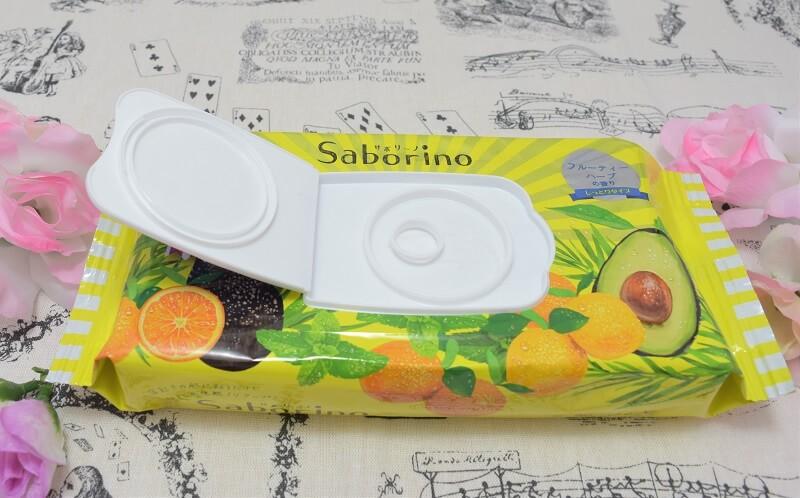 サボリーノ/目ざまシート(フルーティーハーブの香り)のフタを開けてみた