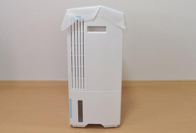 パナソニックの衣類乾燥除湿機「F-YHPX200-S」の右側面