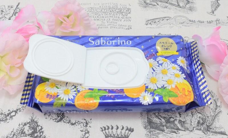サボリーノの「お疲れさマスク」のパッケージのふたを開けてみた