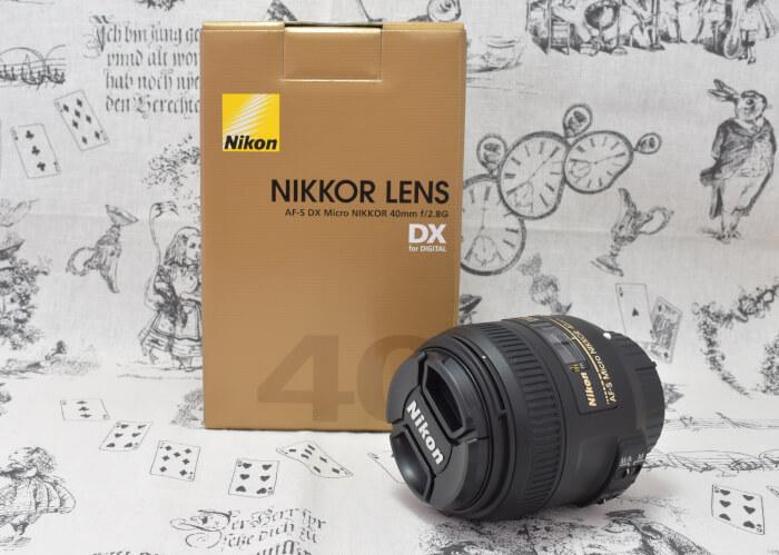 ブログの写真用にニコンのマイクロレンズ「AF-S DX Micro NIKKOR 40mm f/2.8G」をD5500で使ってます(・ω・)