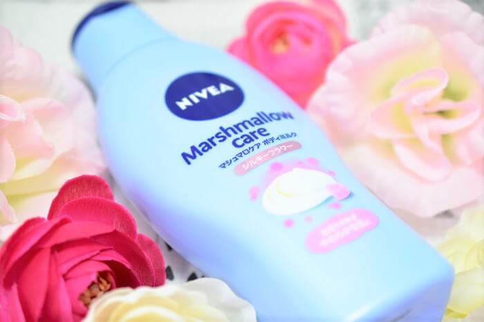 ニベアから新発売のマシュマロケアボディミルクでホントにマシュマロのようなふわモチ肌に!?