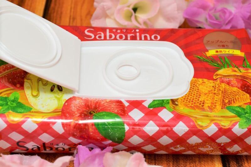 サボリーノ 目ざまシート 豊潤果実の濃密タイプのパッケージのふたを開けてみた