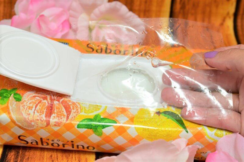 サボリーノ 目ざまシート 贅沢果実の濃密タイプ(ゆずシトラスの香り)の乾燥防止のフィルム