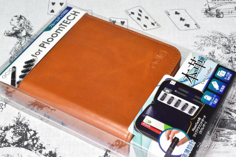 「PloomTECH ジップアラウンドポーチ(カウレザー)」パッケージ正面
