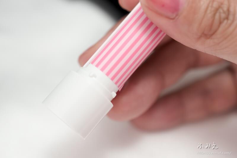 リップスティック型の付箋(ふせん)「リップノ」の下の回る部分