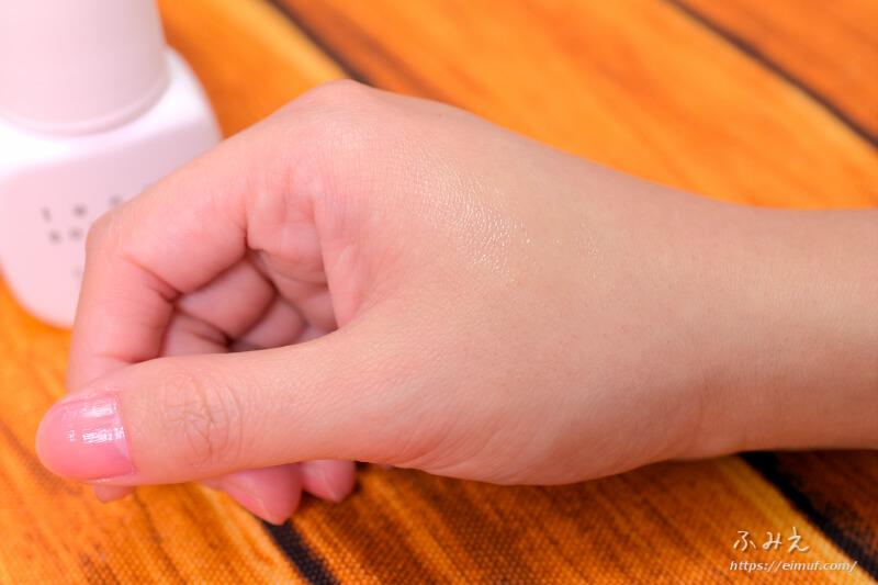 サトウ製薬のテノール液を手の甲に塗ってみた
