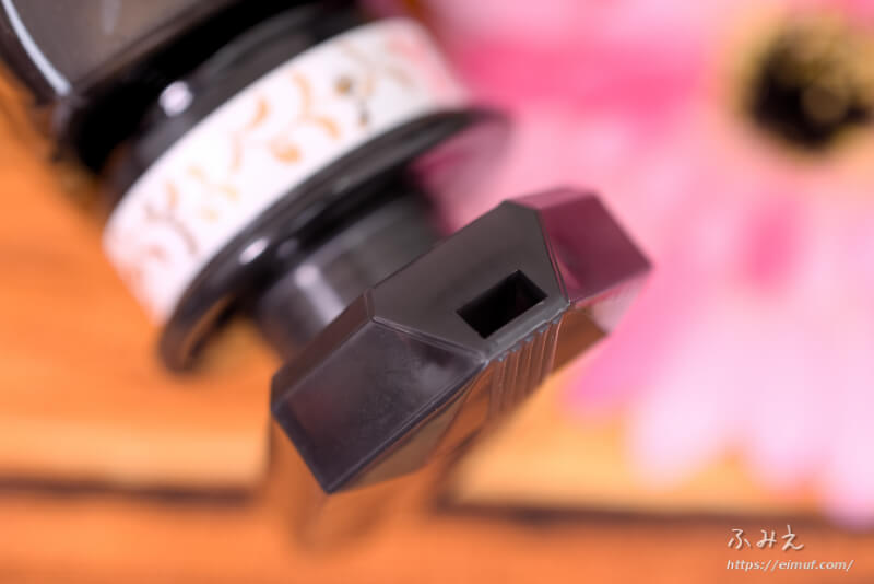 モイストダイアンのパーフェクトビューティ エクストラダメージリペア シャンプーのポンプ口