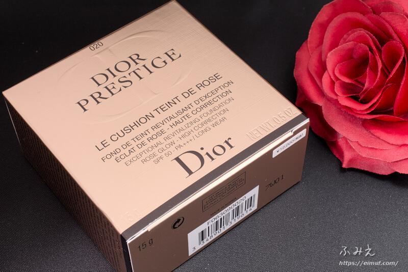 ディオールプレステージのルクッションタンドゥ ローズ パッケージ正面