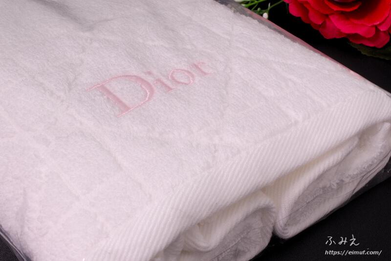 ディオールのタオル