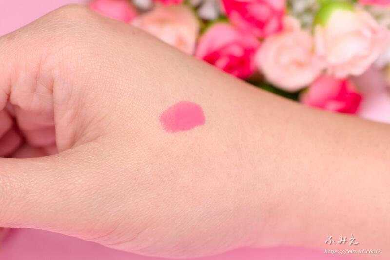 コスメデコルテ ネイルエナメル#PK844(ローズピンク) を手の甲に塗ってみた