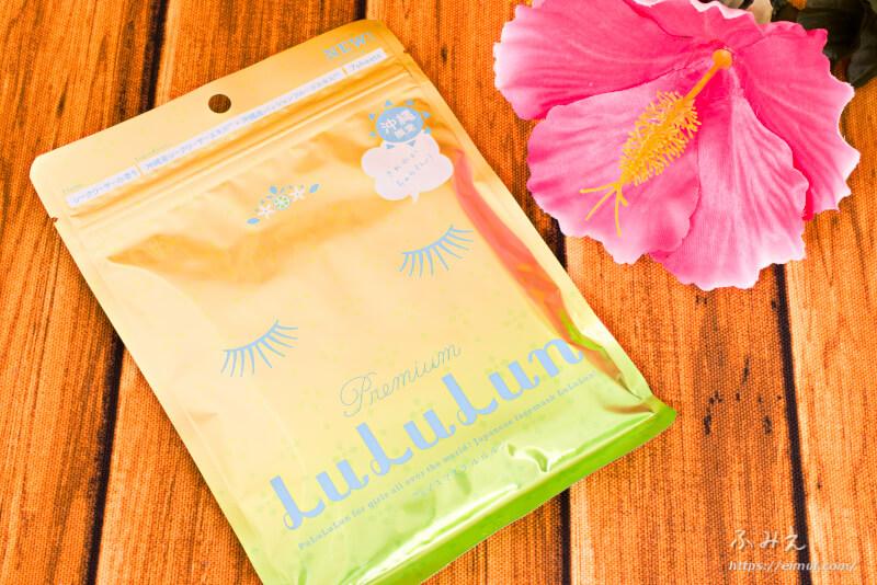 沖縄のプレミアムルルルン(シークワーサーの香り)7枚入りのパッケージ正面