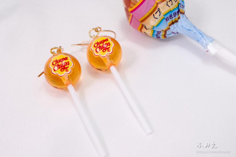 サンキューマートのチュッパチャプス コラボ ピアス(オレンジ)