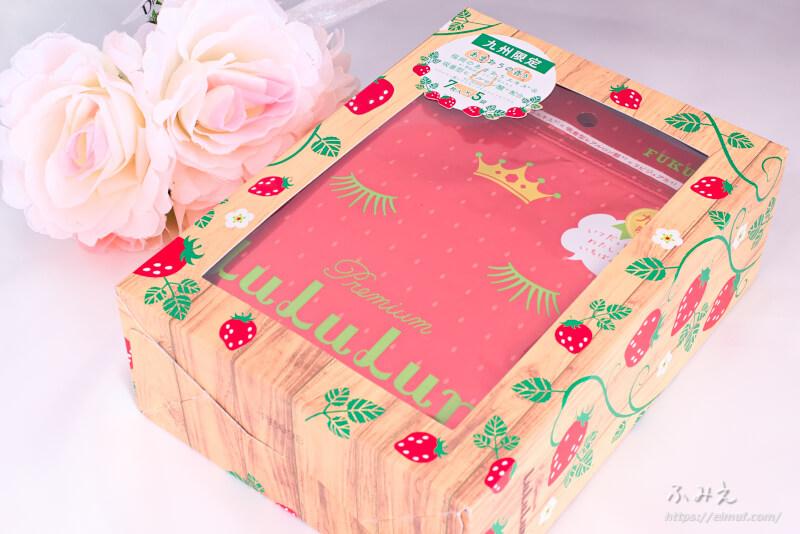 九州のプレミアムルルルン(あまおうの香り) 7枚入り×5袋 パッケージ正面