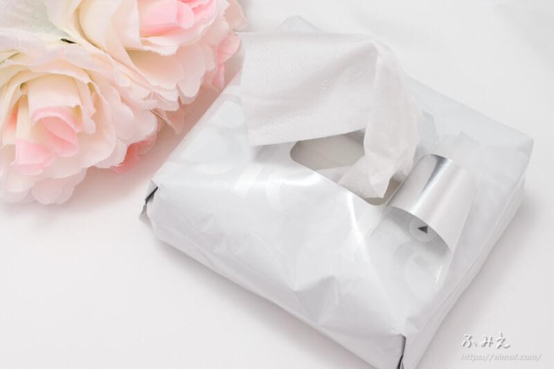 メンズビオレ 洗顔シート フレッシュアップルの香り 1枚出してみた