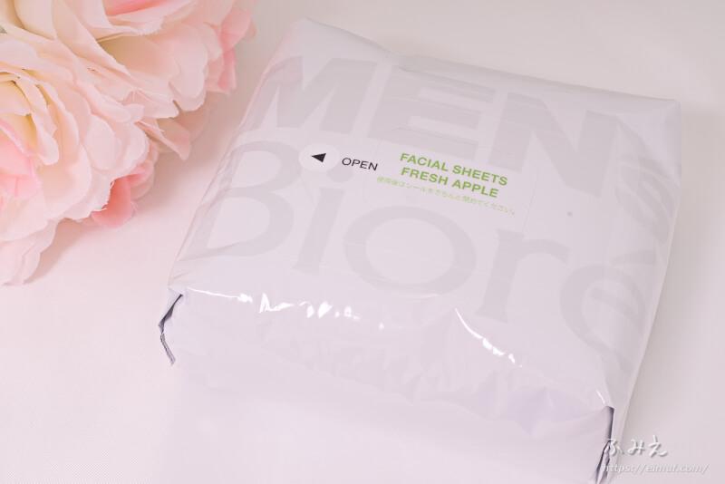 メンズビオレ 洗顔シート フレッシュアップルの香り 本体正面
