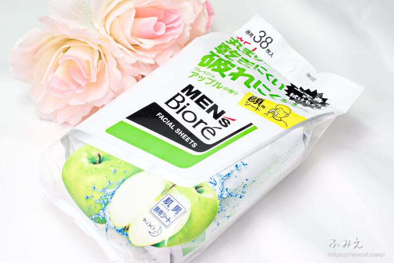 メンズビオレ 洗顔シート フレッシュアップルの香り パッケージ正面