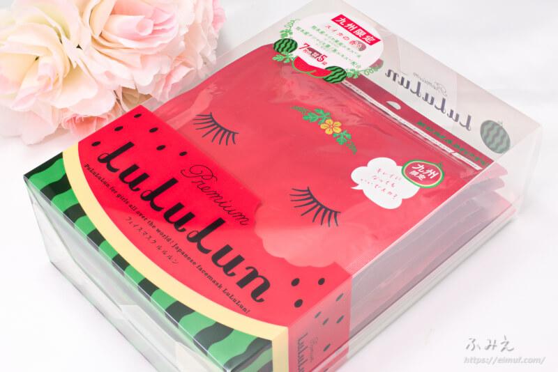 九州のプレミアムルルルン(スイカの香り) 7枚×5個入りパッケージ正面