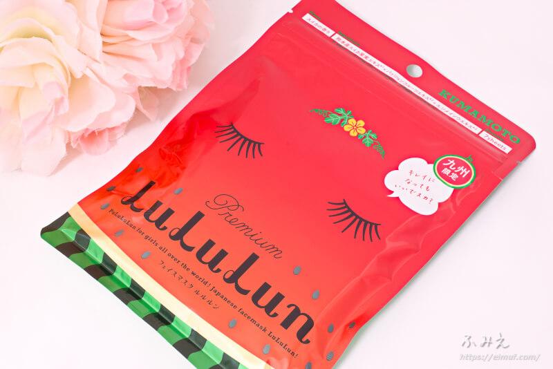 九州のプレミアムルルルン(スイカの香り) 7枚入りパッケージ正面