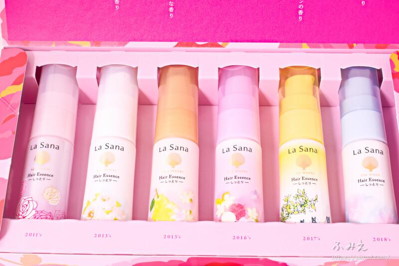 ラサーナ 海藻 ヘアエッセンス 6種の香りコレクションの中身