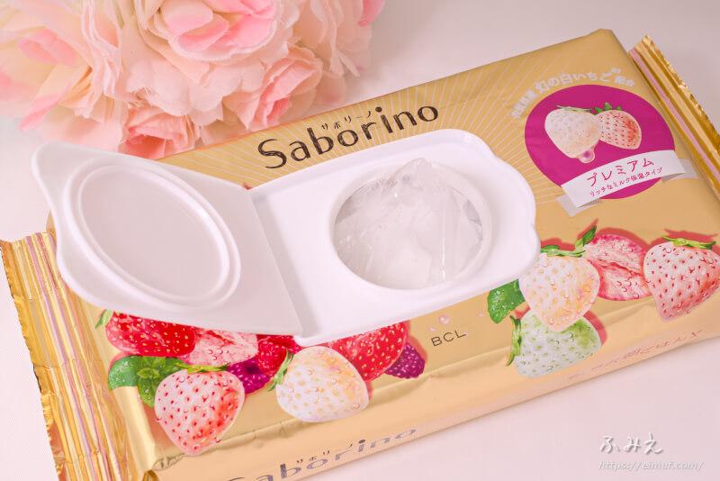 サボリーノ 目ざまシート プレミアム リッチなミルク保湿タイプ(白いちごの香り) 乾燥防止フィルムが入ってた