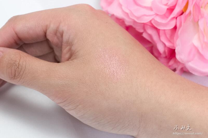 素肌記念日 フェイクヌードリップ #02(惑わせコーラル) を手の甲に塗ってみた