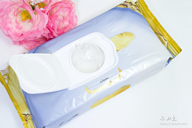 &Habit ブラックティーコンブチャシートマスク パッケージの内フタを開けたら乾燥防止フィルムがあった