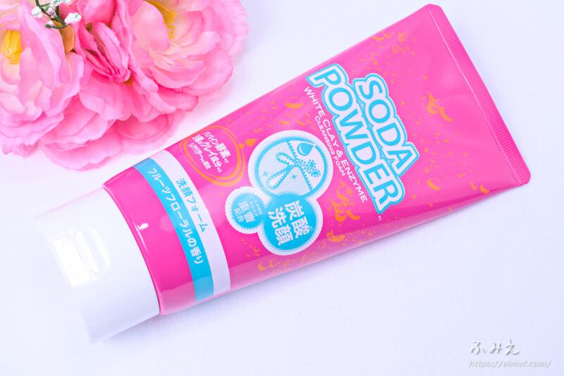 イヴ ソーダパウダー 洗顔フォーム フルーツフローラルの香り 本体正面