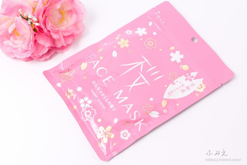 京びあん フェイスマスク桜(はんなりさくらの香り) パッケージ正面