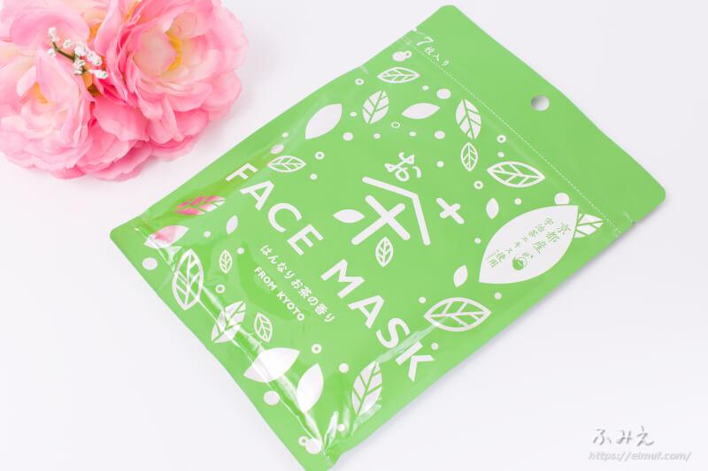京びあん お茶フェイスマスク(はんなりお茶の香り) パッケージ正面